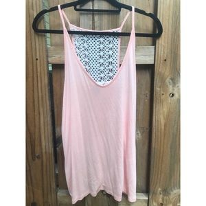 Peach Crochet Back Tank